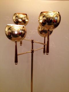 Stilnovo Style Solid Brass Pierced Shade 1950s Standing Lamp - 104449