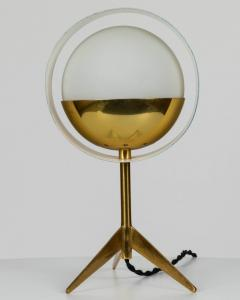 Stilux Milano 1950s Stilux Milano Brass and Glass Tripod Saturno Table Lamp - 616234