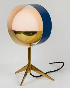 Stilux Milano 1950s Stilux Milano Brass and Glass Tripod Saturno Table Lamp - 616238