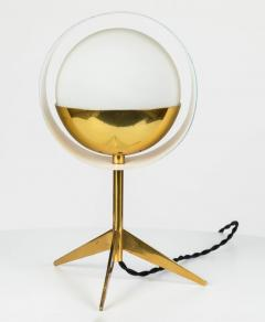 Stilux Milano 1950s Stilux Milano Brass and Glass Tripod Saturno Table Lamp - 616241