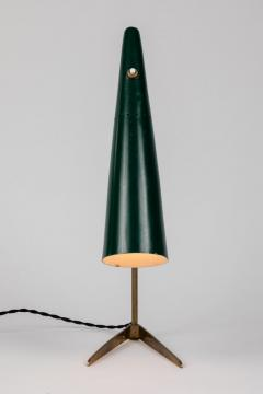 Stilux Milano 1950s Stilux Milano Green Conical Table Lamp - 992606