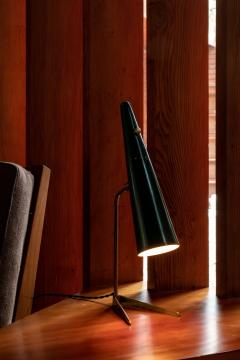 Stilux Milano 1950s Stilux Milano Green Conical Table Lamp - 992609