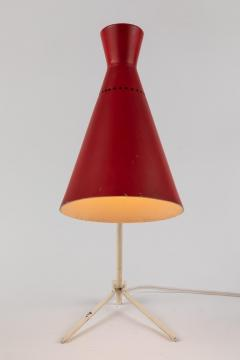 Stilux Milano 1950s Stilux Milano Red and White Table Lamp - 889498
