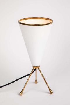 Stilux Milano 1950s Stilux Milano White Cone Tripod Table Lamp - 1639899