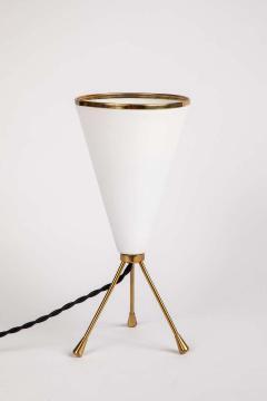 Stilux Milano 1950s Stilux Milano White Cone Tripod Table Lamp - 1639901
