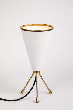 Stilux Milano 1950s Stilux Milano White Cone Tripod Table Lamp - 1639902