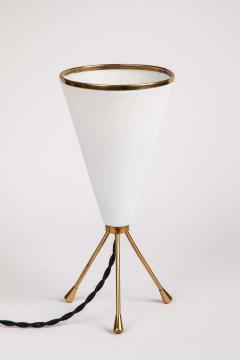 Stilux Milano 1950s Stilux Milano White Cone Tripod Table Lamp - 1639903