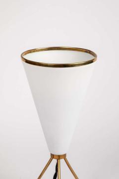 Stilux Milano 1950s Stilux Milano White Cone Tripod Table Lamp - 1639907