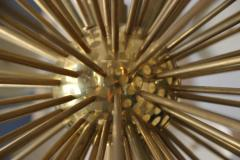 Stilux Milano Important Chandelier Petals of Stilux Gold Brass Circa 2000 Italy - 195203