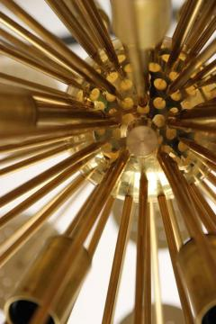 Stilux Milano Important Chandelier Petals of Stilux Gold Brass Circa 2000 Italy - 195208