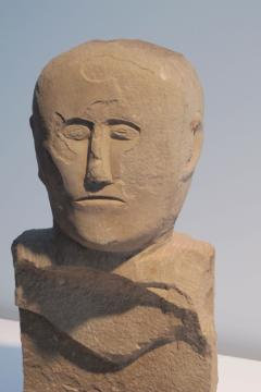 Stone Bust Boundry Marker - 410063