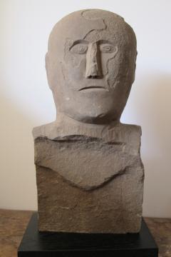 Stone Bust Boundry Marker - 410065