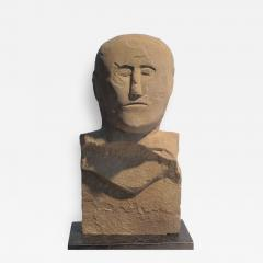 Stone Bust Boundry Marker - 410397