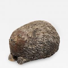 Stone Hedgehog with Patina - 1907252