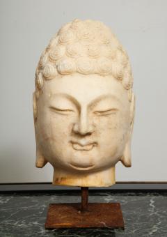 Stone Sculpture of Buddha Head - 1107986