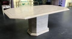 Stone Veneer Inlaid Dining Table - 1539423