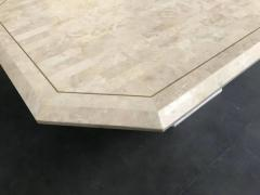 Stone Veneer Inlaid Dining Table - 1539430