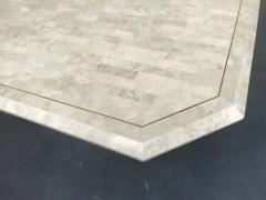 Stone Veneer Inlaid Dining Table - 1539431