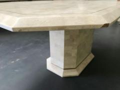 Stone Veneer Inlaid Dining Table - 1539433