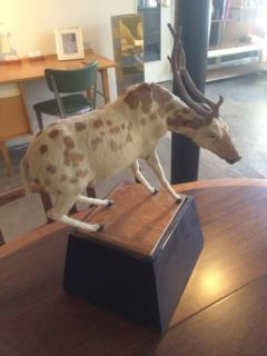 Strange Taxidermyesque Animal on Stand - 274630