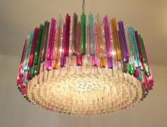 Striking Multicolor Triedi Crystal Prism Chandelier - 1984877