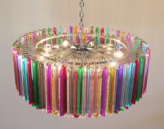 Striking Multicolor Triedi Crystal Prism Chandelier - 1984889