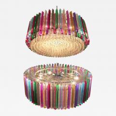 Striking Multicolor Triedi Crystal Prism Chandelier - 1985929