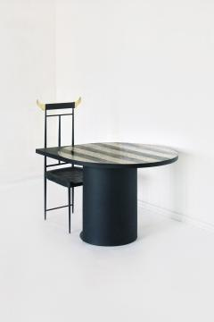 Stripy Mosaic Brass Table Rooms - 880166