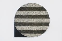 Stripy Mosaic Brass Table Rooms - 880173