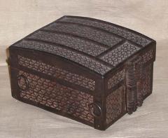 Strong Box missal casket Iron over Iron on an Oak Core - 153264