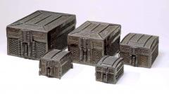 Strong Box missal casket Iron over Iron on an Oak Core - 153265