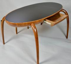 Studio Crafted Spider Leg Oval Writing Desk 1970s - 569592