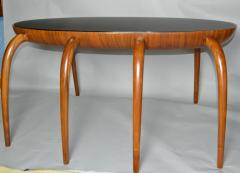 Studio Crafted Spider Leg Oval Writing Desk 1970s - 569593