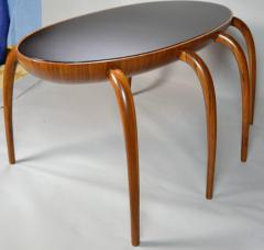 Studio Crafted Spider Leg Oval Writing Desk 1970s - 569595