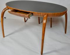 Studio Crafted Spider Leg Oval Writing Desk 1970s - 569596