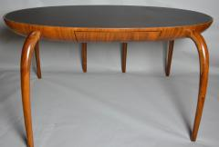 Studio Crafted Spider Leg Oval Writing Desk 1970s - 571319