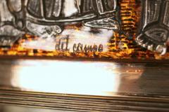 Studio Del Campo Grape Harvest Frieze Enamel Silver Frame Mirror by Studio Del Campo - 775303