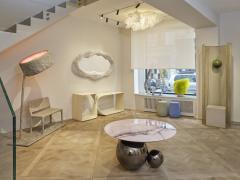 Studio MVW JinShi Pink Jade Coffee Table Gunmetal Grey version - 682554