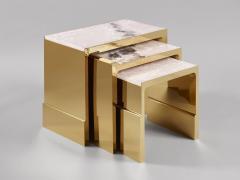 Studio MVW JinShi Pink Jade Nest Of Tables - 673778