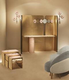 Studio MVW JinShi Pink Jade Nest Of Tables - 673782