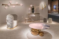Studio MVW Large JinShi Pink Jade Wall Lamp - 673785