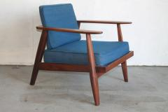 Studio producted mid century walnut lounge chair - 1089674