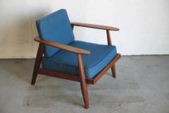 Studio producted mid century walnut lounge chair - 1089693