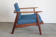 Studio producted mid century walnut lounge chair - 1089695