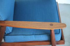 Studio producted mid century walnut lounge chair - 1089697