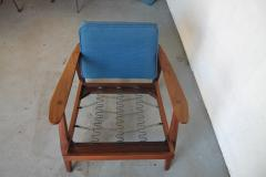 Studio producted mid century walnut lounge chair - 1089699