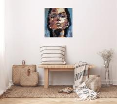 Study of Thoughts Painting by Thomas Johnson - 2130649