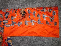 Stunning Chinese Silk Gold Thread Embroidered Dragon Kimono Robe Wall Hanging - 1550182