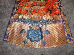 Stunning Chinese Silk Gold Thread Embroidered Dragon Kimono Robe Wall Hanging - 1550183