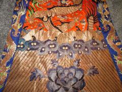 Stunning Chinese Silk Gold Thread Embroidered Dragon Kimono Robe Wall Hanging - 1550189